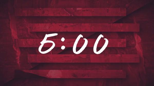 Ink Drop 5min Countdown Church Motion
