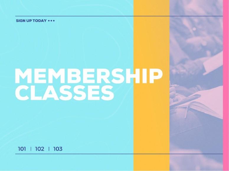 Membership Class Sign Up Church PowerPoint