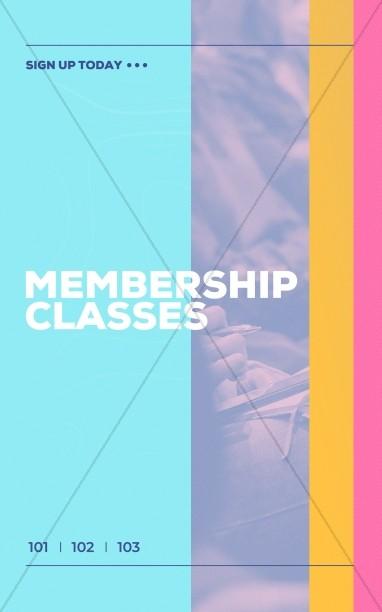 Membership Class Sign Up Church Bifold Bulletin