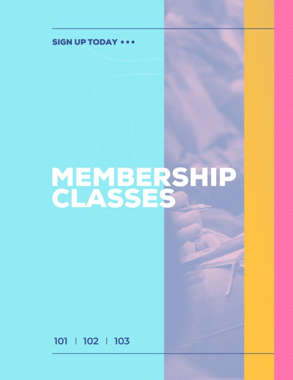 Membership Class Sign Up Church Flyer