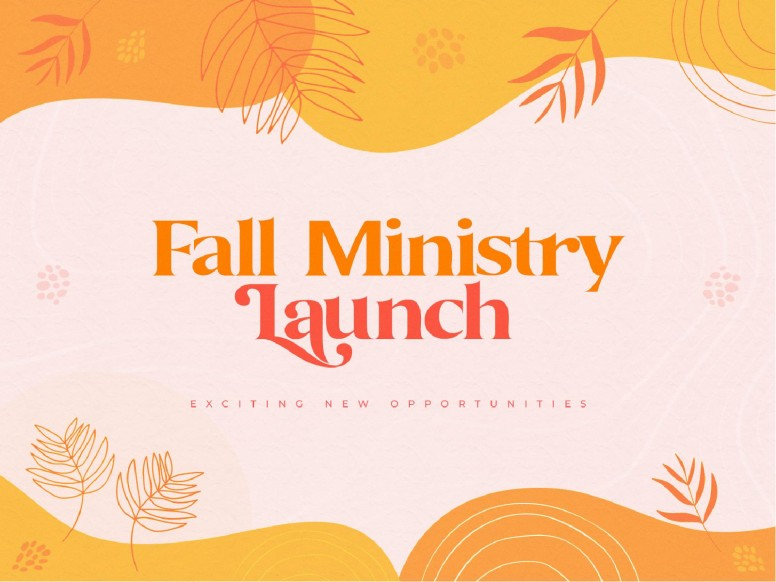 Fall Ministry Launch Church PowerPoint