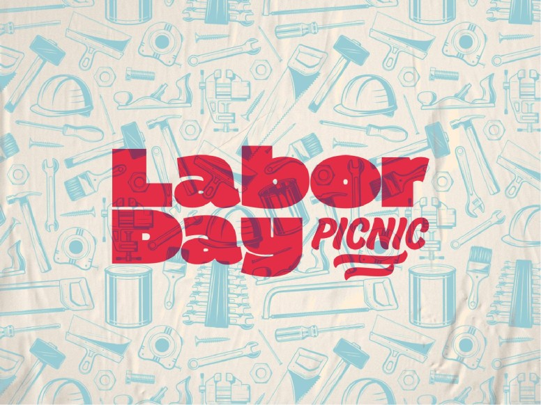 Labor Day Picnic Red Church PowerPoint