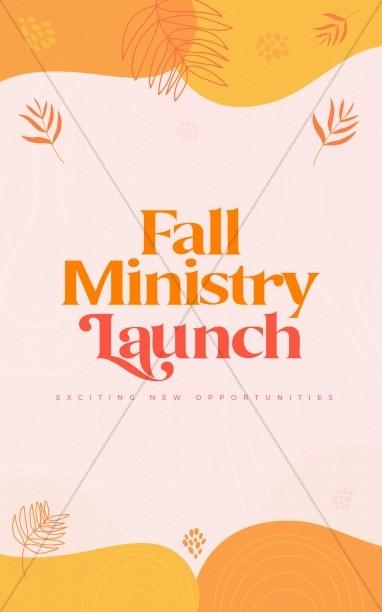 Fall Ministry Launch Church Bifold Bulletin