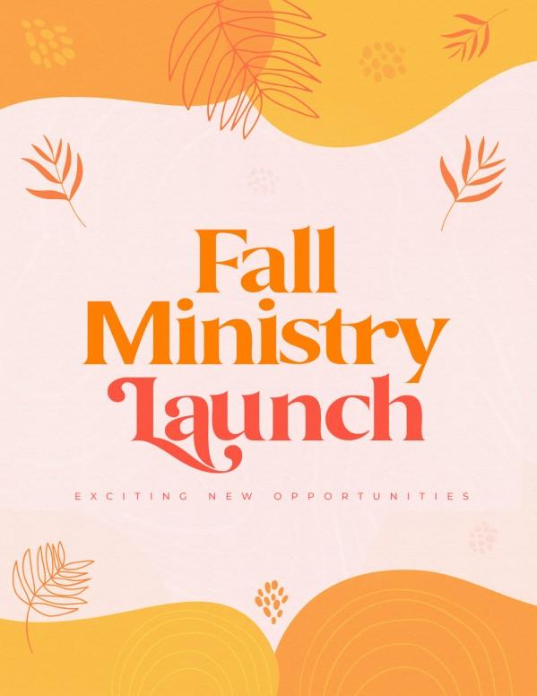 Fall Ministry Launch Orange Church Flyer