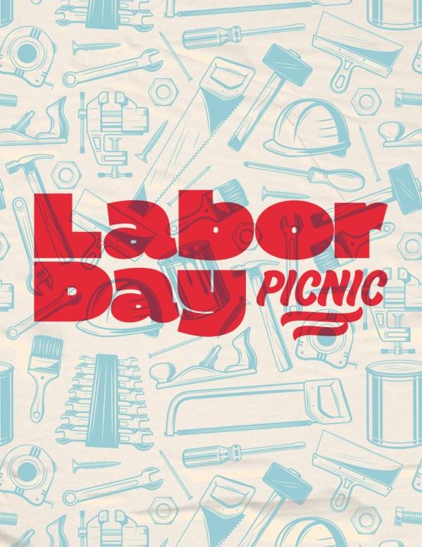 Labor Day Picnic Red Church Flyer