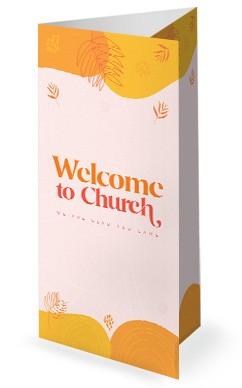 Fall Ministry Launch Orange Church Trifold Bulletin