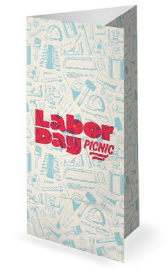 Labor Day Picnic Red Church Trifold Bulletin