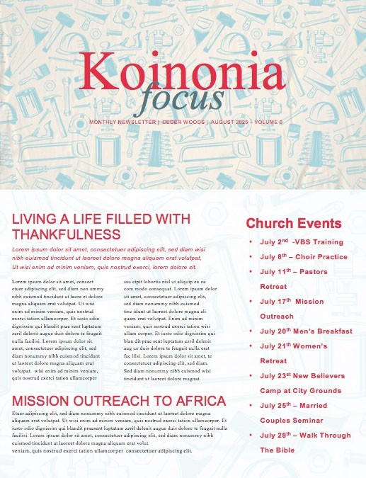 Labor Day Picnic Red Church Newsletter