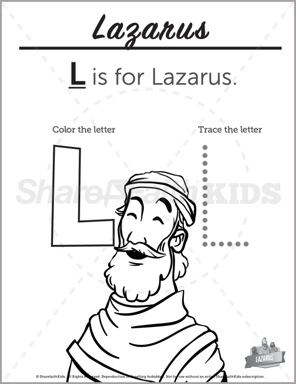 John 11 The Story of Lazarus Preschool Letter Coloring