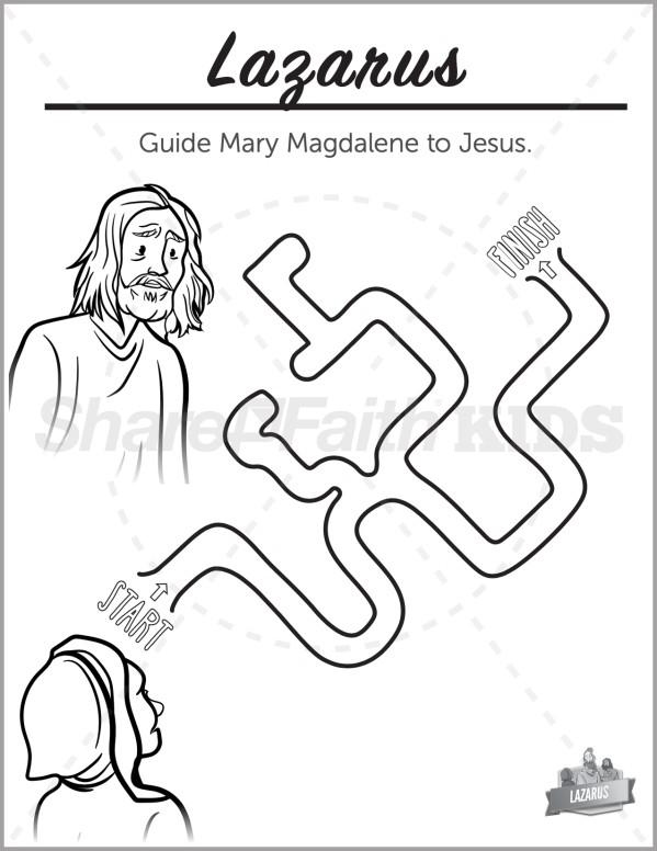 John 11 The Story of Lazarus Preschool Mazes