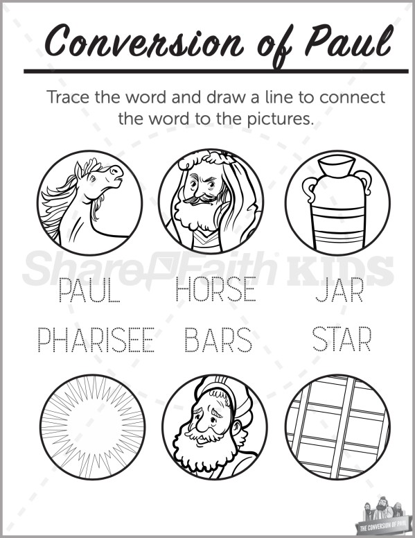 Acts 9 Paul's Conversion Preschool Word Picture Match