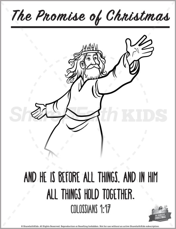 Matthew 2 The Promise of Christmas Preschool Coloring Pages