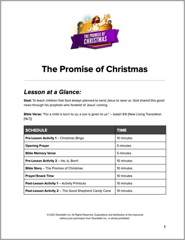 Matthew 2 The Promise of Christmas Preschool Curriculum