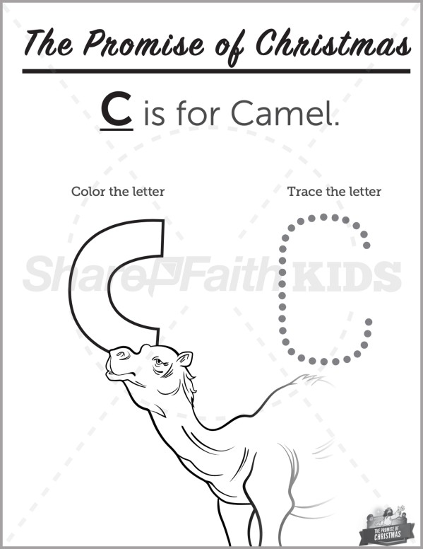 Matthew 2 The Promise of Christmas Preschool Letter Coloring
