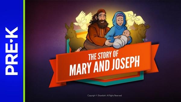 Luke 2 Mary and Joseph Christmas Story Preschool Bible Video