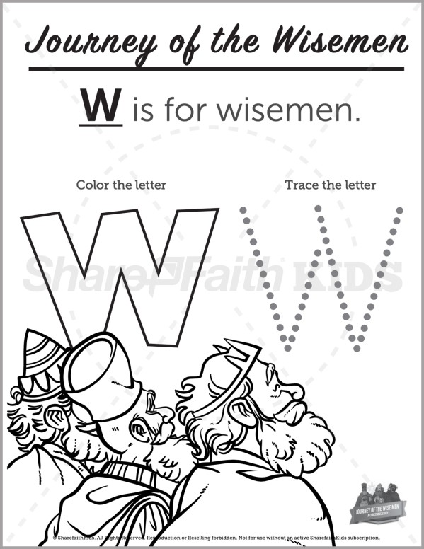 Matthew 2 Journey of the Wise Men Preschool Letter Coloring