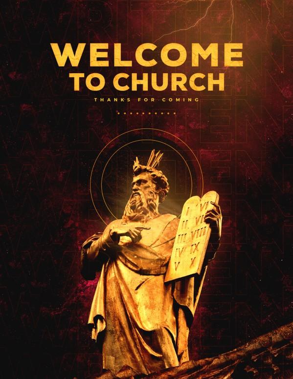 Written In Stone Church Flyer