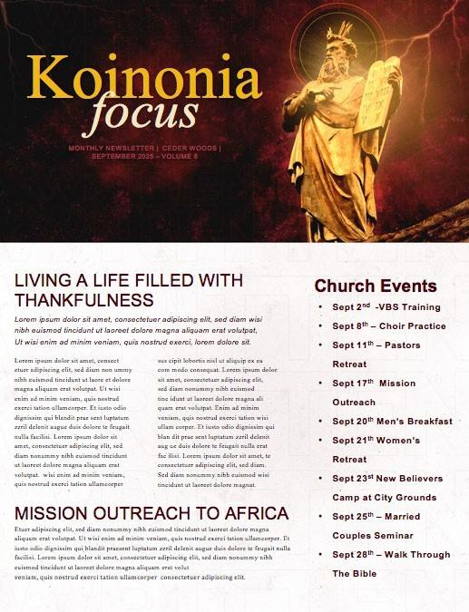 Written In Stone Church Newsletter