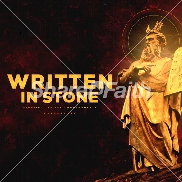 Written In Stone Church Social Media Graphic
