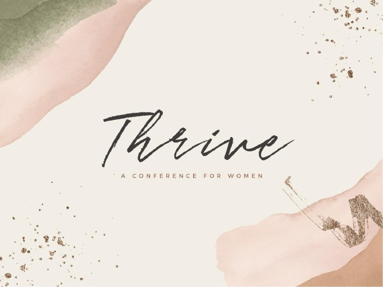 Thrive Women's Conference Church PowerPoint