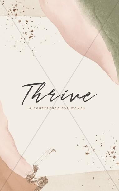 Thrive Women's Conference Church Bifold Bulletin