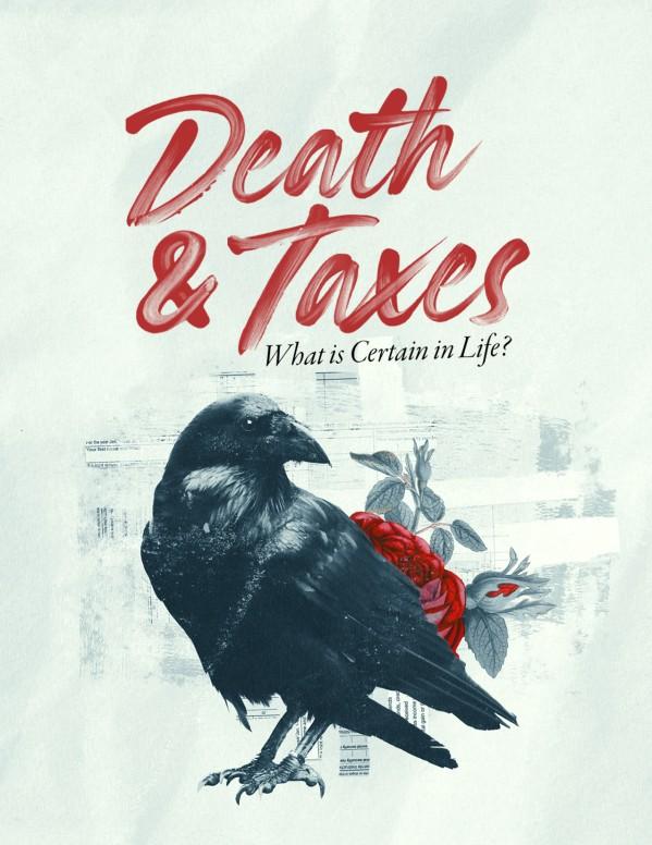 Death And Taxes Church Flyer
