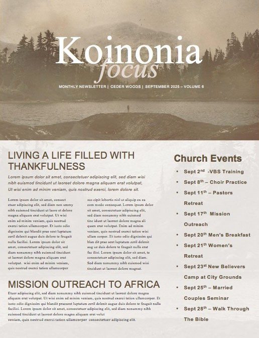 Into The Wild Church Newsletter