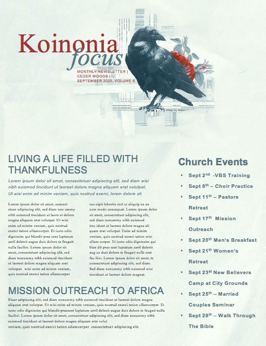 Death And Taxes Church Newsletter