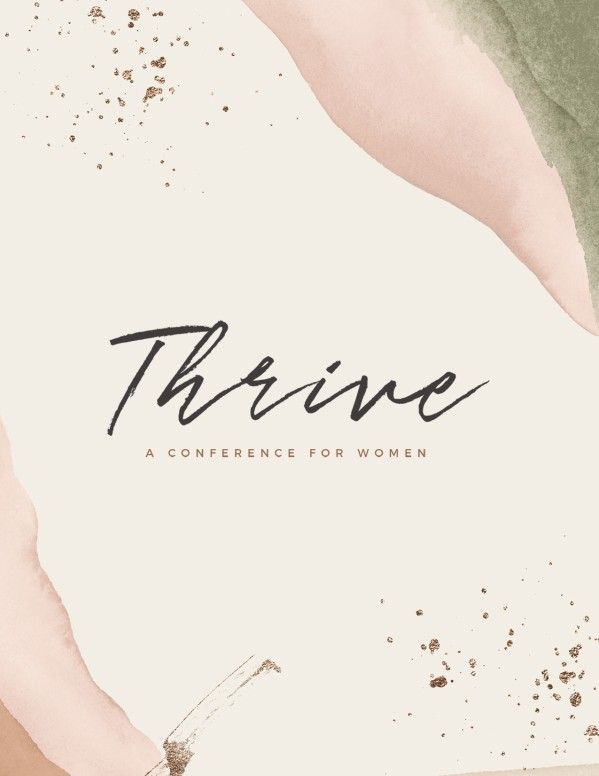 Thrive Women's Conference Church Flyer