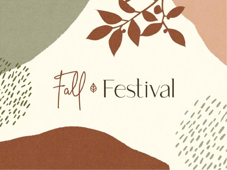 Fall Festival Leaf Church PowerPoint