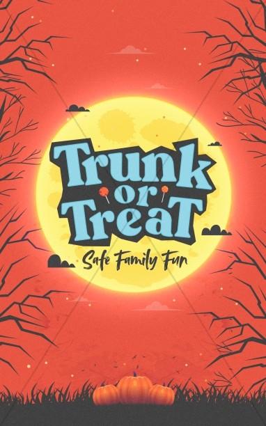 Trunk Or Treat Pumpkins Church Bifold Bulletin
