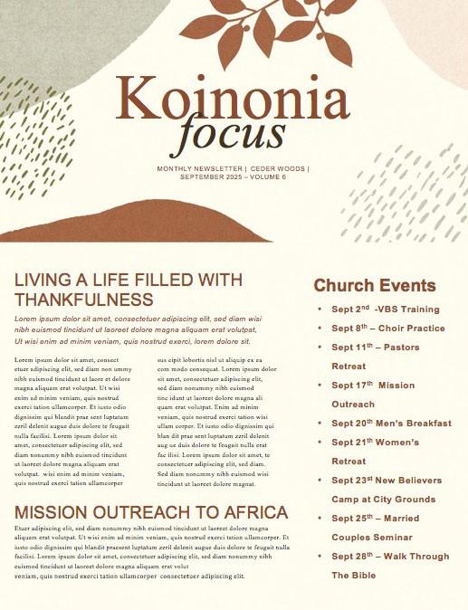 Fall Festival Leaf Church Newsletter