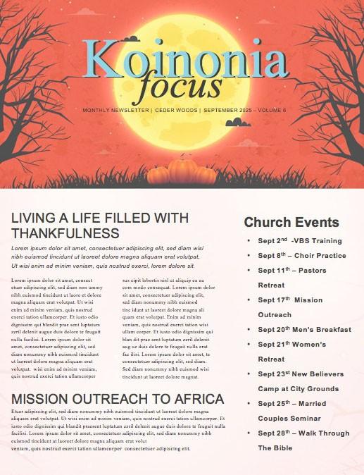 Trunk Or Treat Pumpkins Church Newsletter