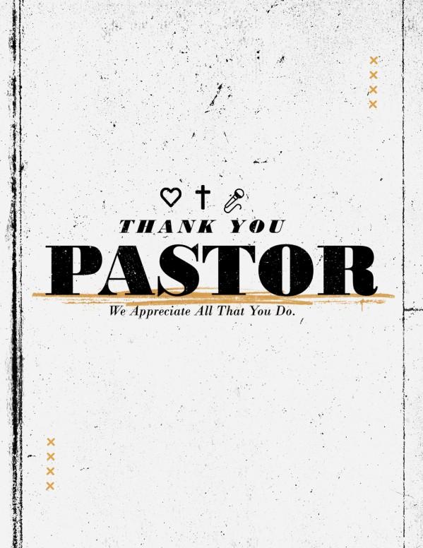 Pastor Appreciation Sunday Church Flyer