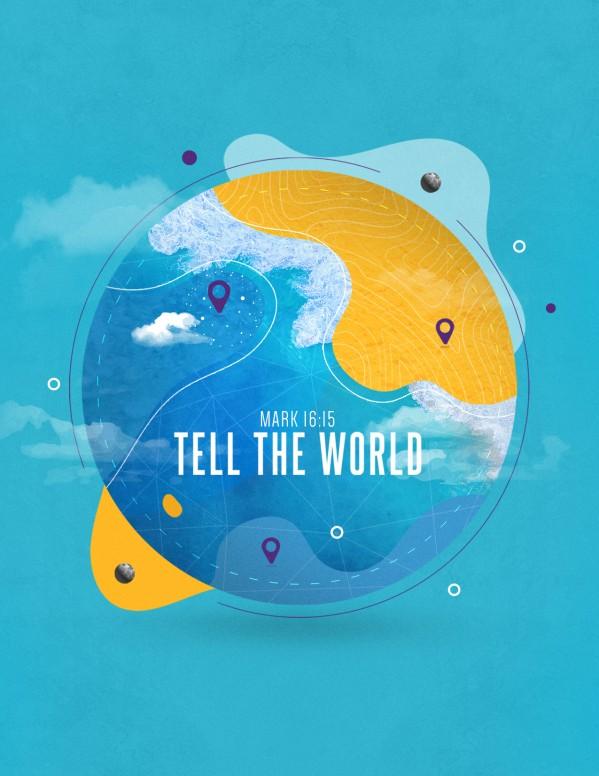 Tell The World Church Flyer