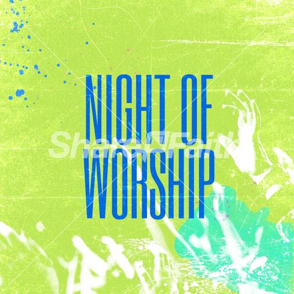 Night Of Worship Social Media Graphic