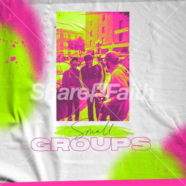 Small Groups Men Social Media Graphic