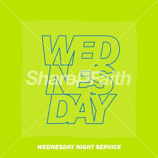 Wednesday Night Service Social Media Graphic