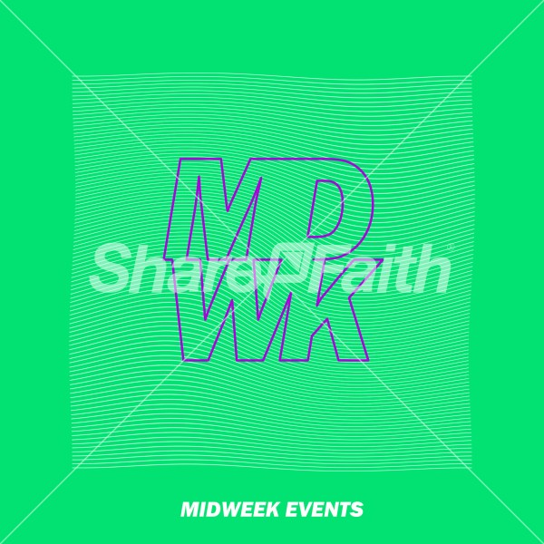 Midweek Events Green Social Media Graphic