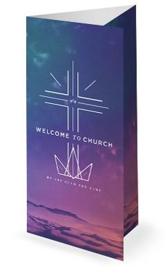Cross Before Crown Church Trifold Bulletin