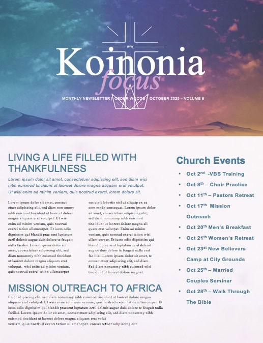Cross Before Crown Church Newsletter