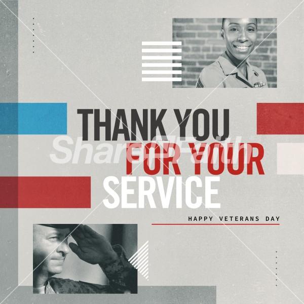 Veteran's Day Service Social Media Graphic