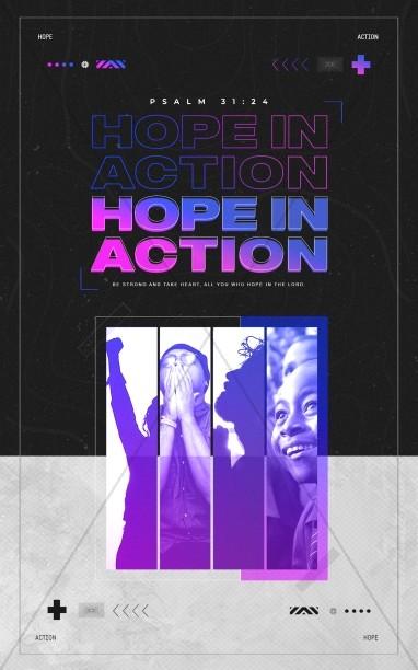 Hope In Action Church Bifold Bulletin