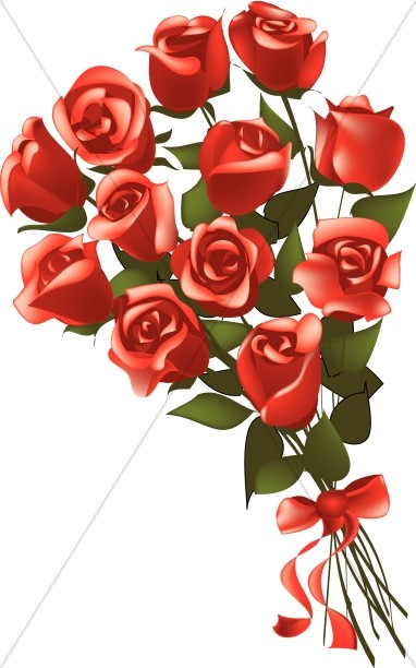 Gift Bouquet of Red Long Stem Roses
