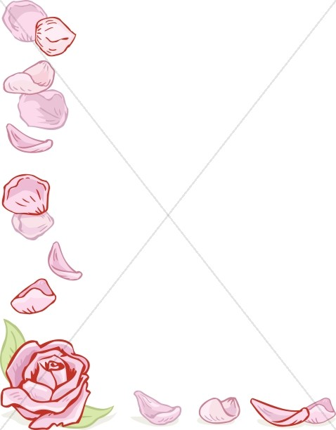Rose Corner with Petals