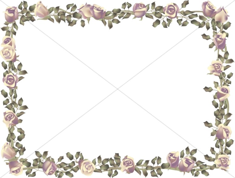 Horizontal Birthday Roses Frame