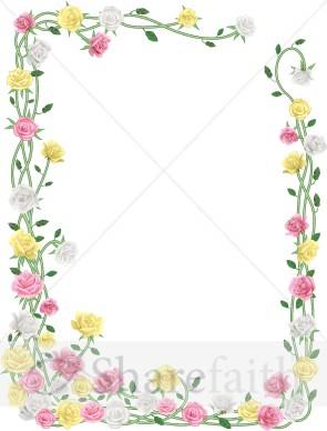 Realistic spring flower curling frame spring borders mightylinksfo