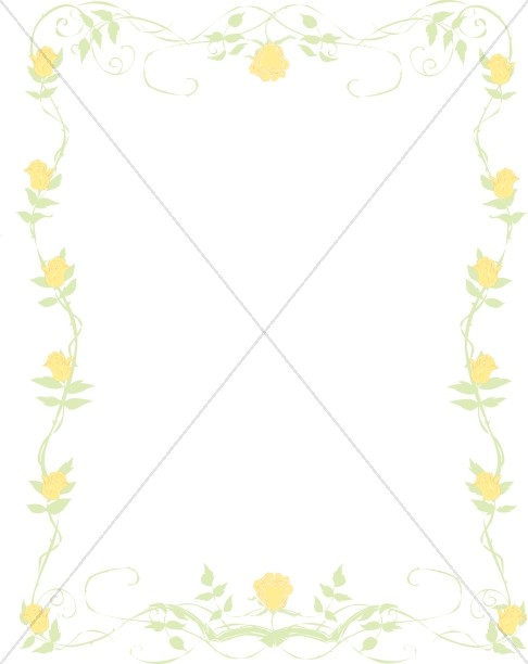 Yellow Rose Birthday Frame
