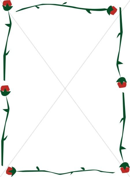 Abstract Rose Stem Frame