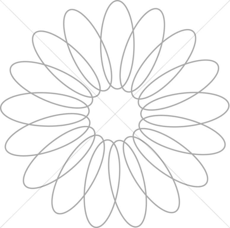 Spiral Flower Petal Design